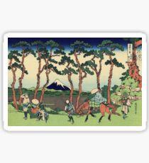 Hokusai Katsushika - Hodogaya on the Tokaido Sticker
