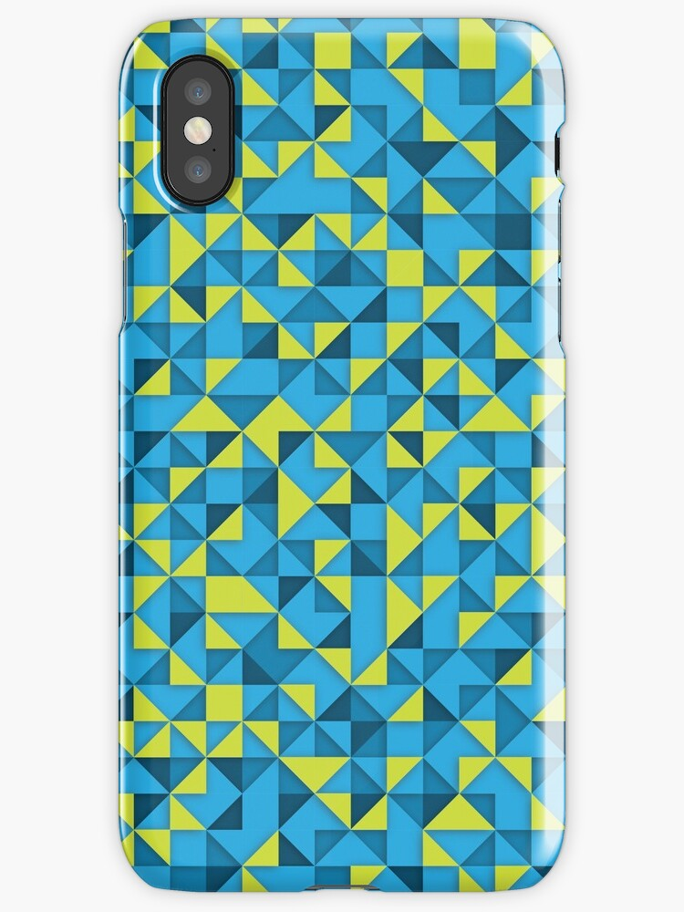 triangular color graphic - blue green by mmurgia