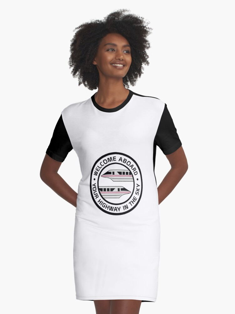 MonorailHighwayPink Graphic T-Shirt Dress Front