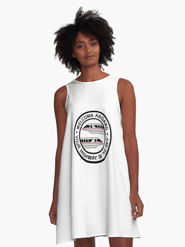 MonorailHighwayPink A-Line Dress Front
