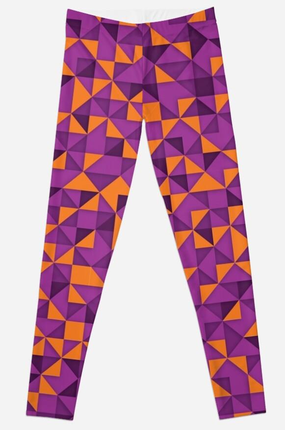 triangular color graphic - purple orange by mmurgia