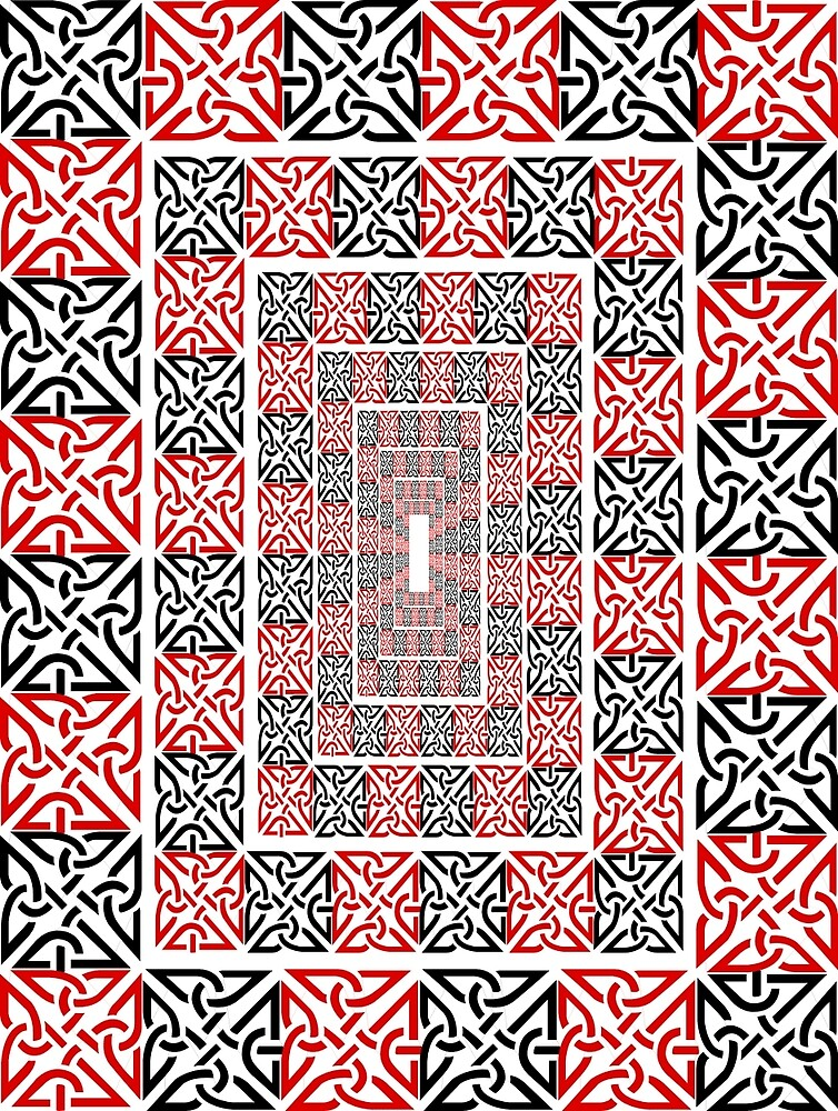 Descending Red and Black Borders by CatholicSaints