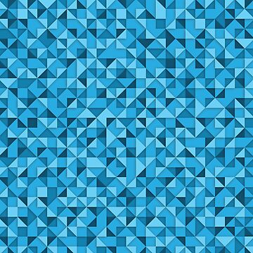 triangular color graphic - blue by mmurgia