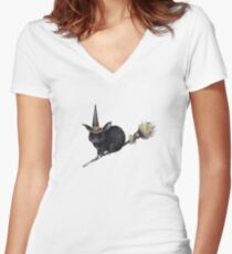 Flight of the Witch Bunnies Women's Fitted V-Neck T-Shirt