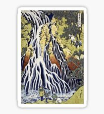 Hokusai Katsushika - The Kirifuri Waterfall  Sticker