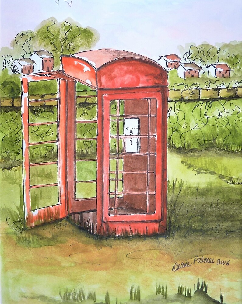 Forgotten Phone Booth by DianePalmerArt
