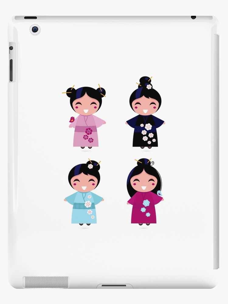 Little japan girls collection : Geisha original Designers Collection by Bee and Glow Illustrations Shop