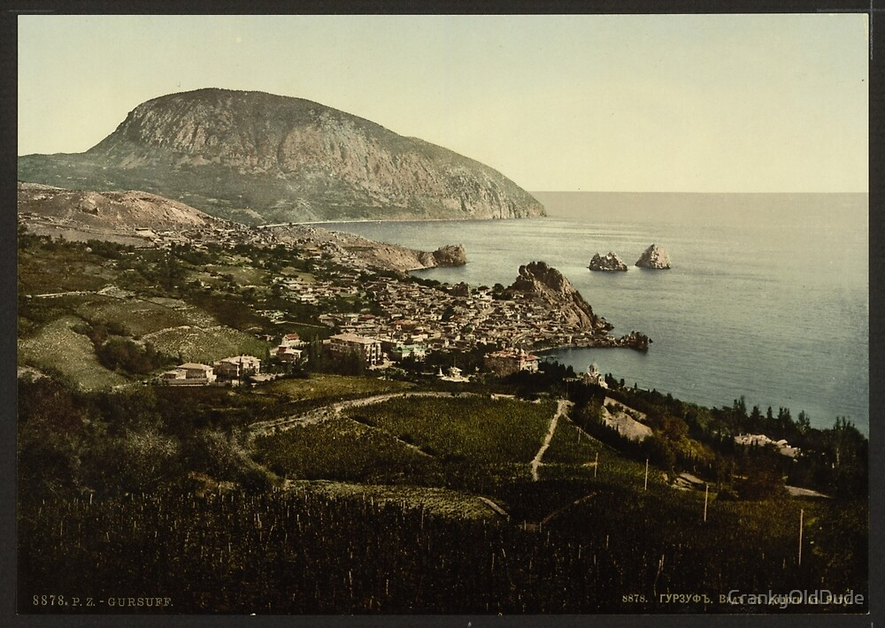 Gursuff Road - the Crimea Russia - 1890 by CrankyOldDude