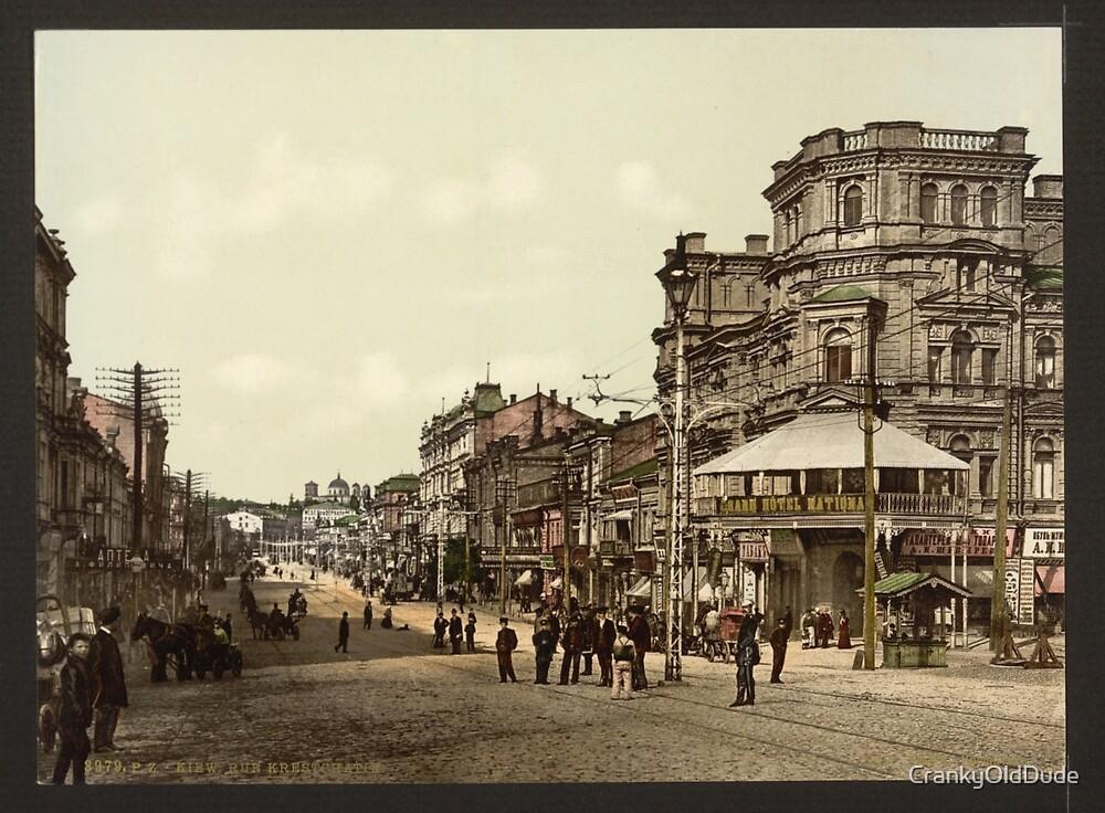 Krestchatik Street - Kiev Russia - 1890 by CrankyOldDude