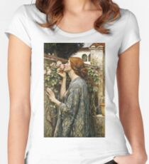 John William Waterhouse - The Soul Of The Rose  Women's Fitted Scoop T-Shirt
