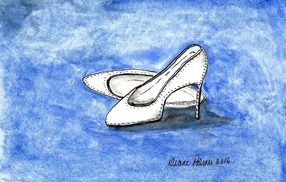Wedding Day Shoes by DianePalmerArt