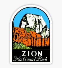 Zion National Park USA Sticker