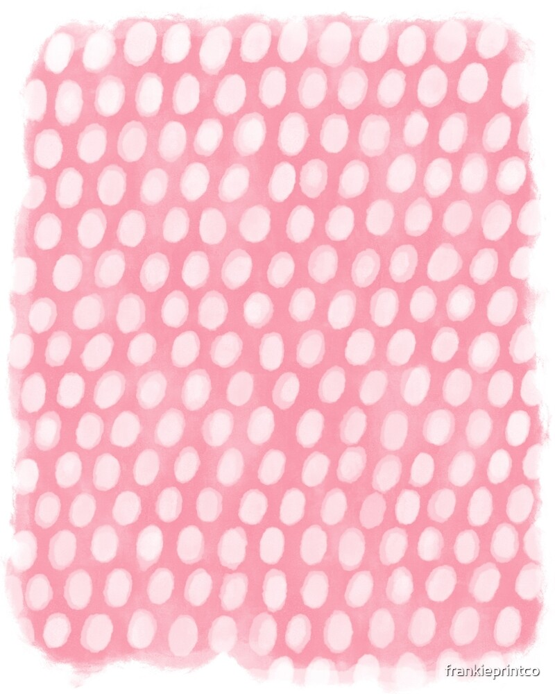 Pink Dots Abstract by frankieprintco