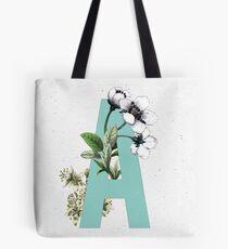 Botanical Alphabet - Letter 'A' Tote Bag