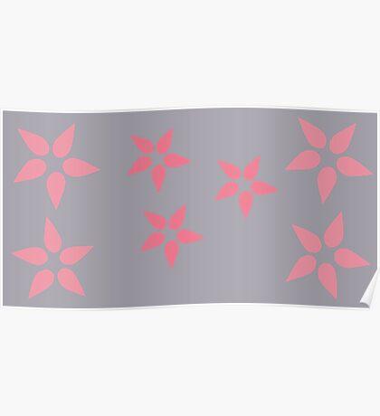 Pink Bursting Grey Poster
