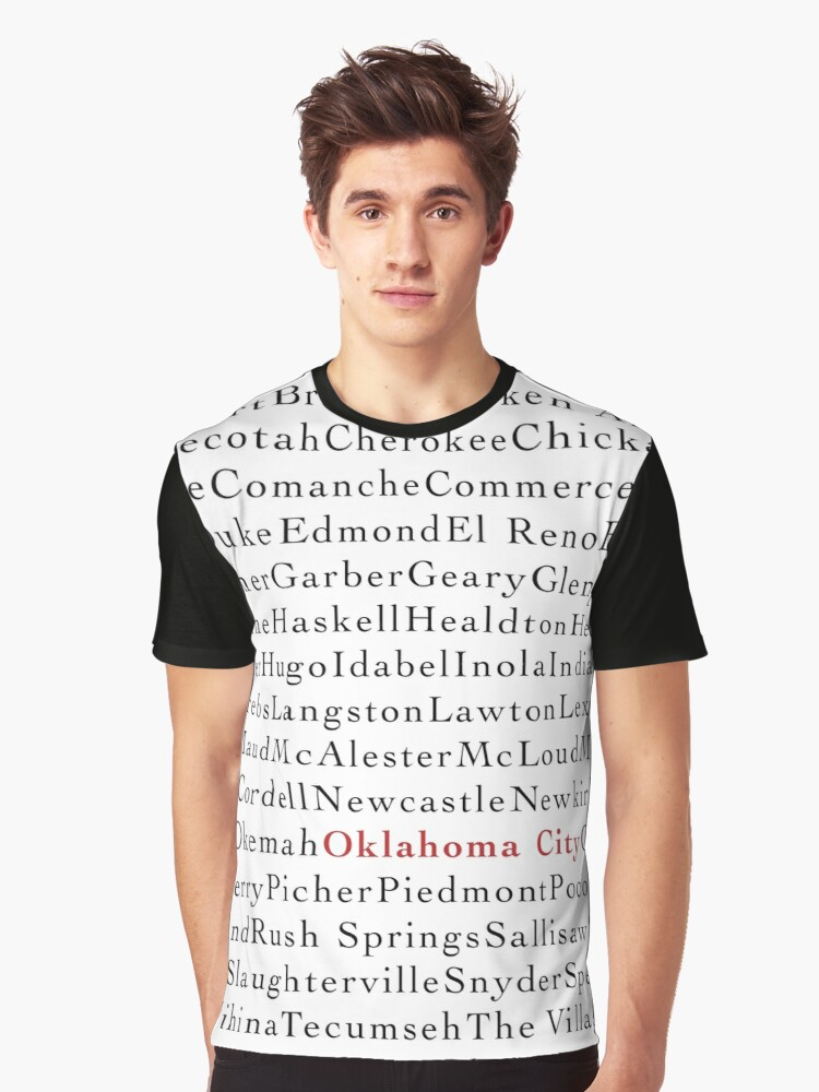 OK Cities Graphic T-Shirt Front