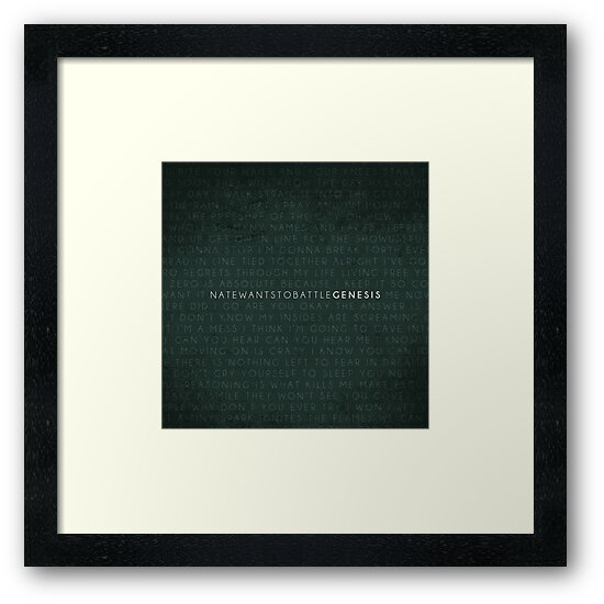NateWantsToBattle - Genesis Album PRINT by natewantstobtl