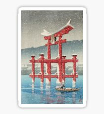 Kawase Hasui - Miyajima In Snow (Miyajima, Setchu) Sticker