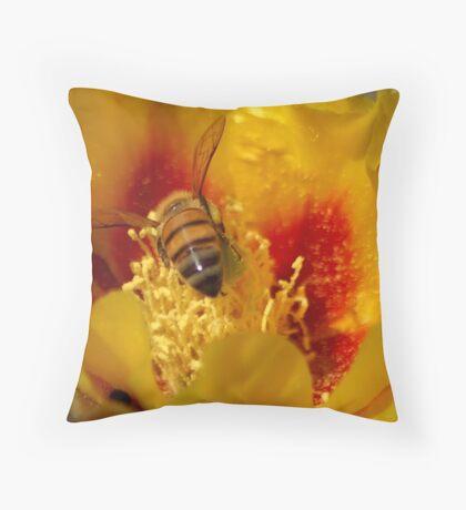 I will melt into it (Opuntia humifusa) Throw Pillow