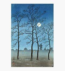 Kawase Hasui - Winter Moonlight Photographic Print