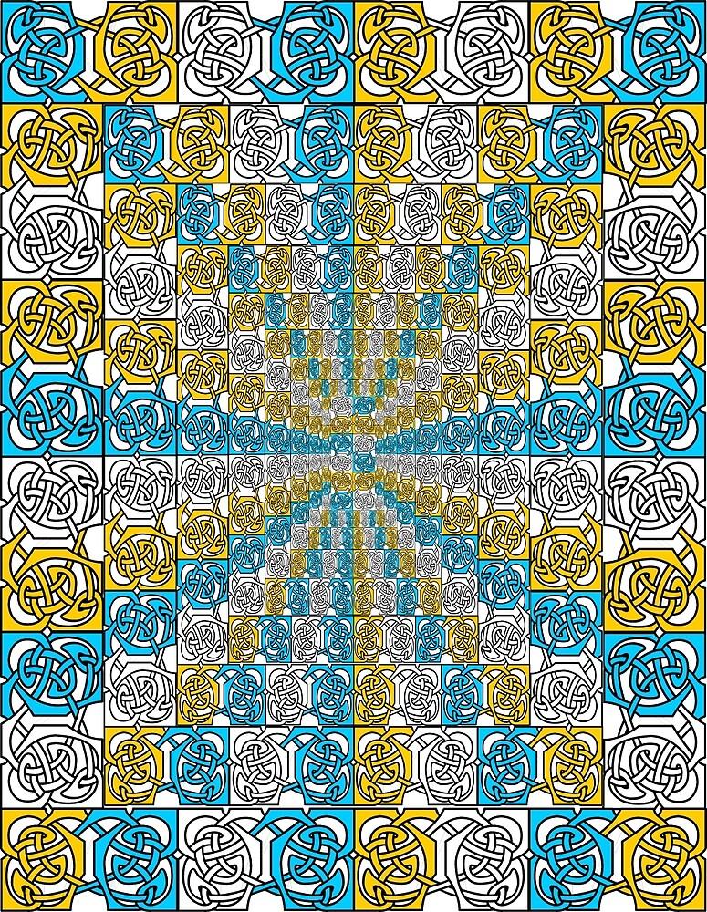 Blue and Gold Descending Borders by CatholicSaints