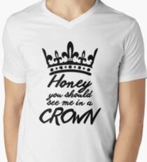 BBC Sherlock - Honey You Should See Me In A Crown T-Shirt mit V-Ausschnitt