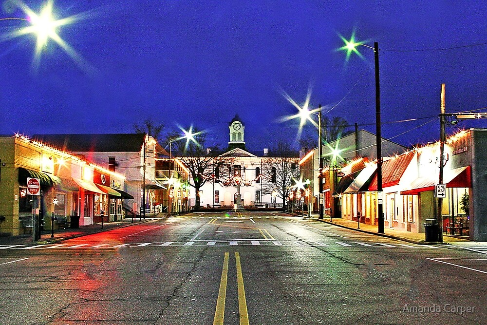 Oxford Square Early Morning  by Amanda Carper
