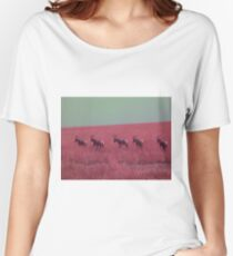 Hartebeest in Red Women's Relaxed Fit T-Shirt