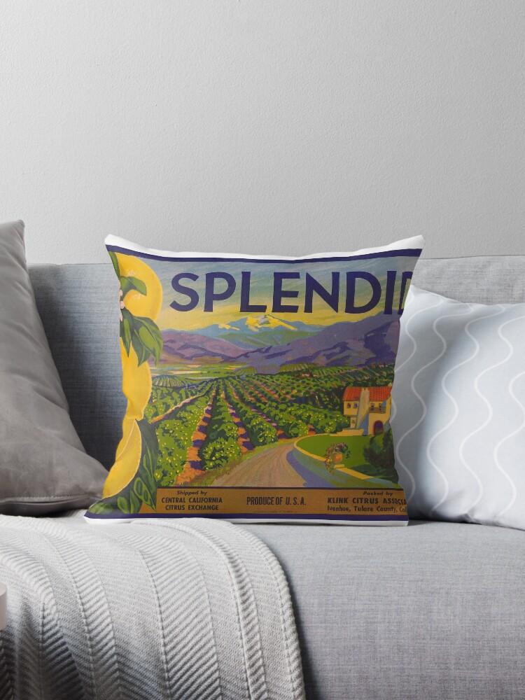 Splendid Citrus Label - California by GalvestonHempCo