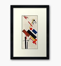 Kazimir Malevich - Stroyuschiysya Dom  Framed Print