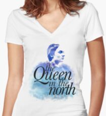 The Queen in the North Women's Fitted V-Neck T-Shirt