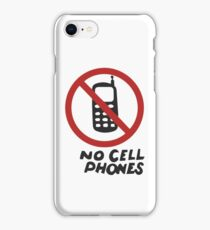 Luke's Diner No Cell Phones t-shirt - Gilmore Girls, Stars Hollow, Rory, Lorelai, The WB iPhone Case/Skin