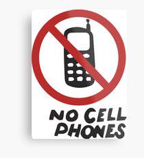 Luke's Diner No Cell Phones t-shirt - Gilmore Girls, Stars Hollow, Rory, Lorelai, The WB Metal Print