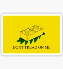 Lego Don't Tread on Me Sticker