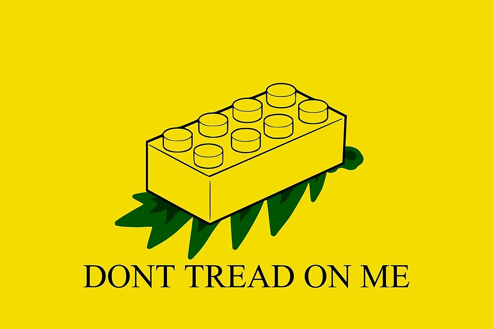 lego don t tread on me by brycecantreed redbubble