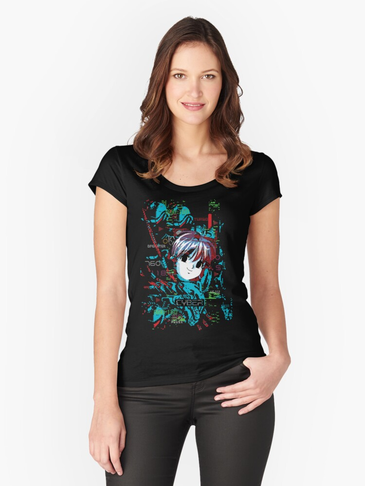 Machine Girl Neo Women's Fitted Scoop T-Shirt Front