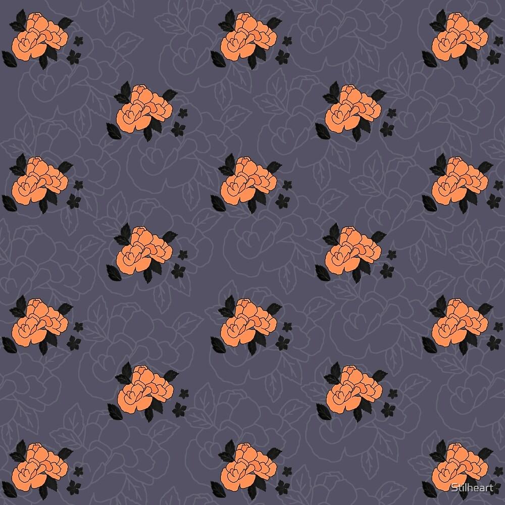 Orange and Black metal on lavender by Stilheart