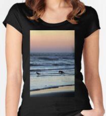 Sunset Birds Women's Fitted Scoop T-Shirt