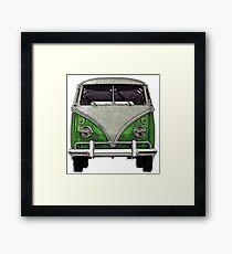 Green Split window bus Framed Print