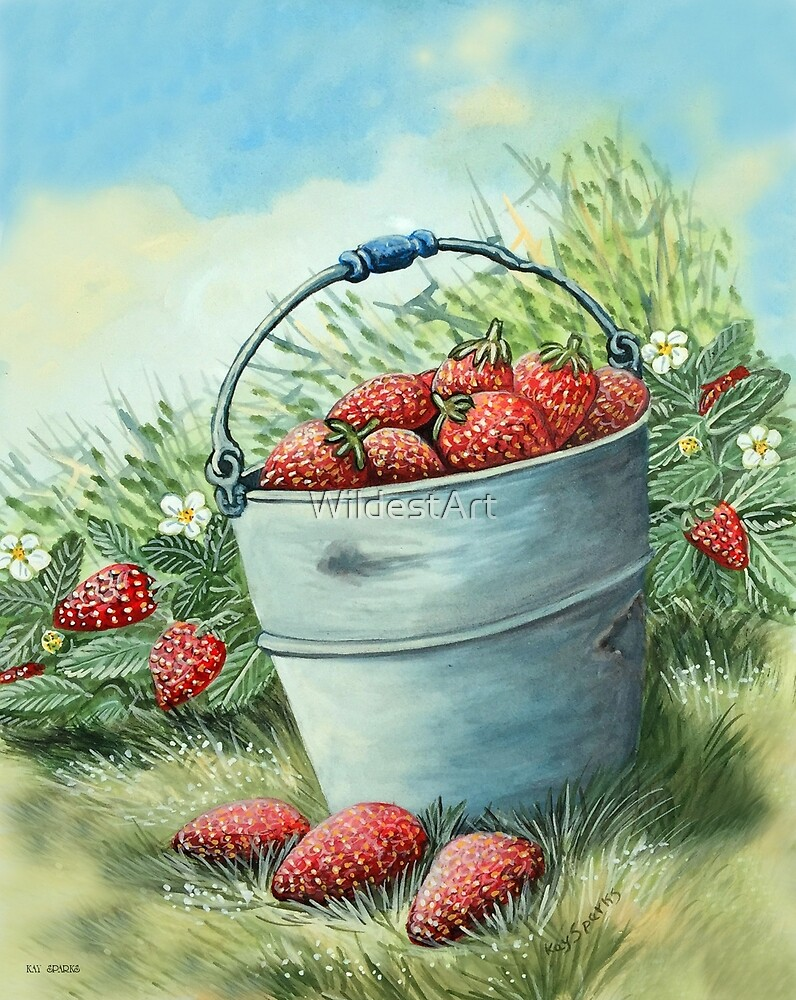 Strawberries....on craft foam..... by WildestArt