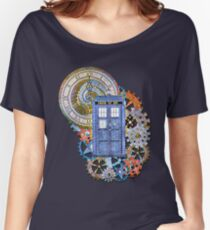 Mosaic TARDIS with Clock Women's Relaxed Fit T-Shirt