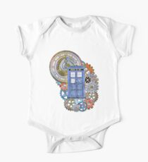 Mosaic TARDIS with Clock One Piece - Short Sleeve
