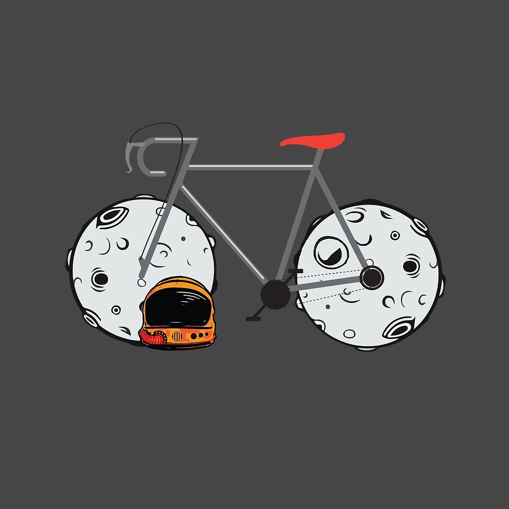 Bike moon by Tony Vazquez