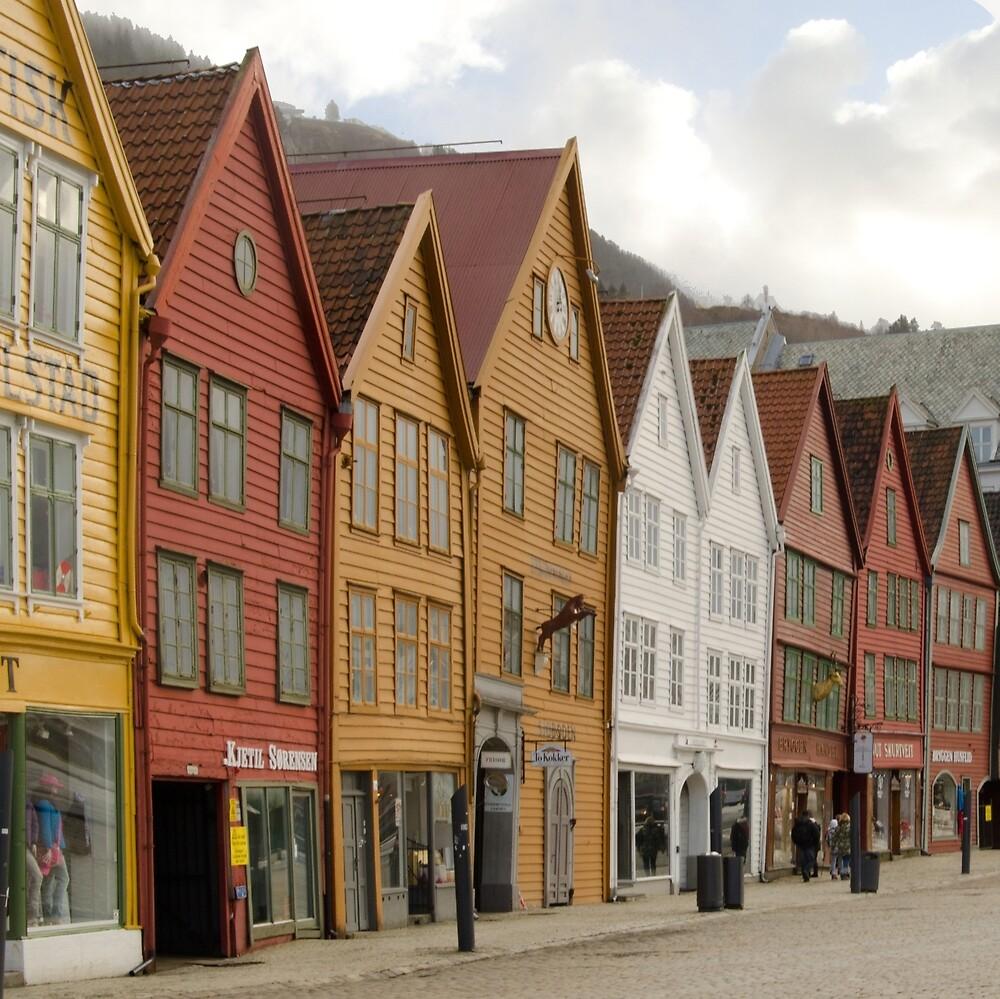 Bergen's Bryggen by Janice Heppenstall