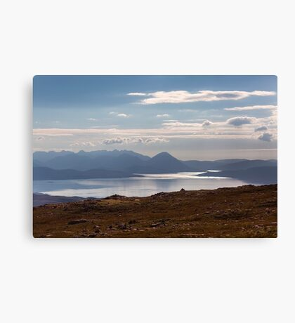 The Isle of Skye From The Applecross Pass Canvas Print