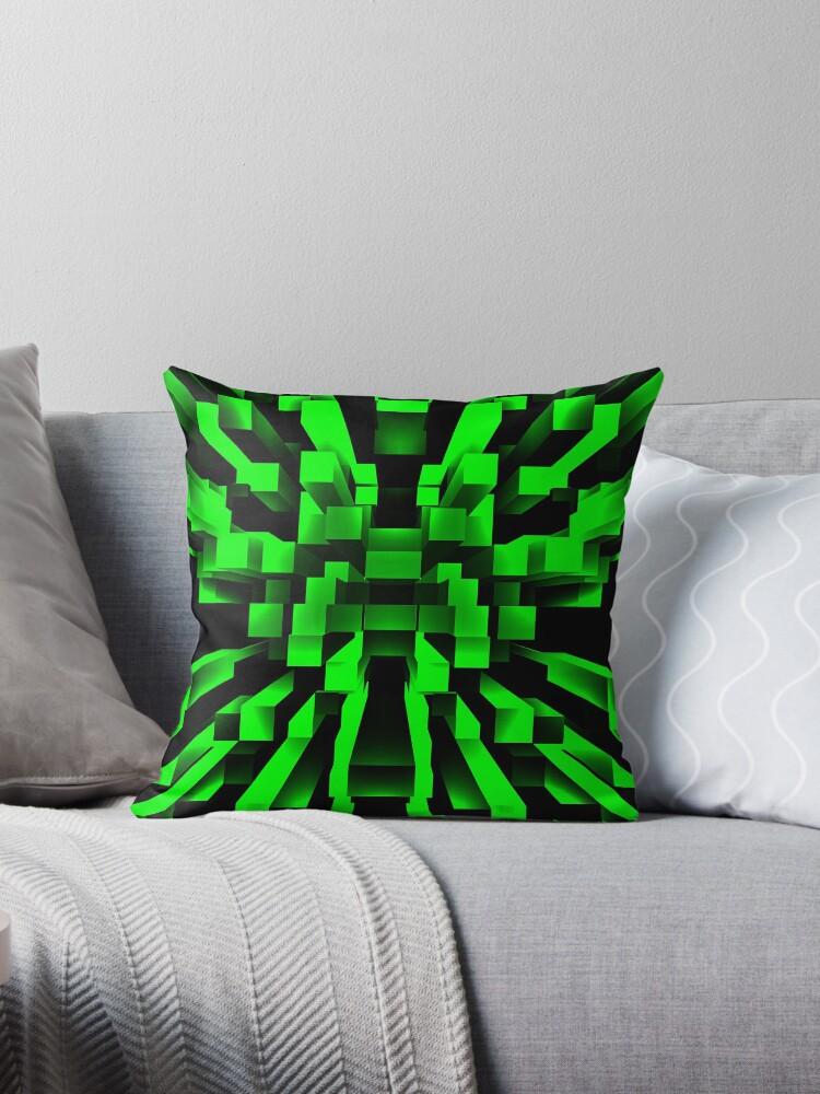 Green Abstract by Mechala Matthews