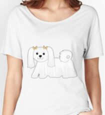 Maltese Dog Women's Relaxed Fit T-Shirt