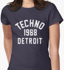 Techno Women's Fitted T-Shirt
