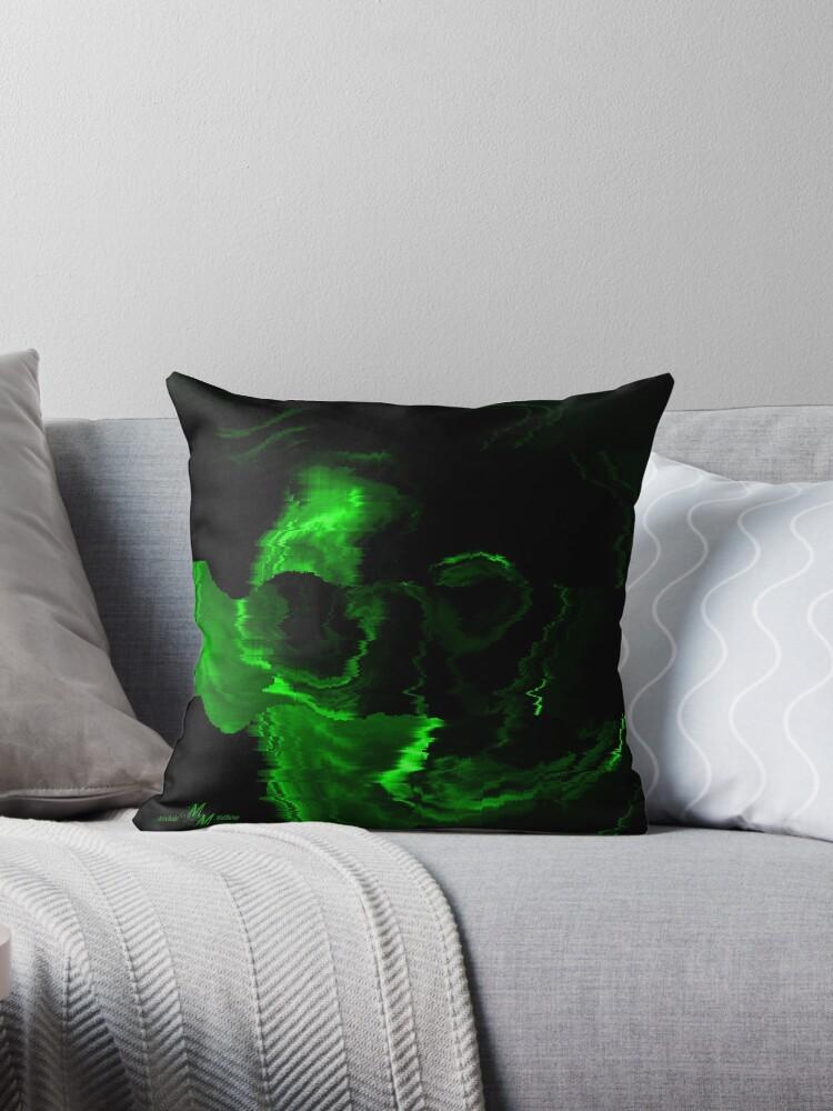 Green Skull in Water by Mechala Matthews