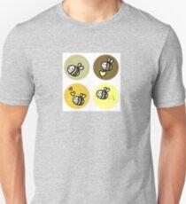 Vector set of happy bee characters T-Shirt